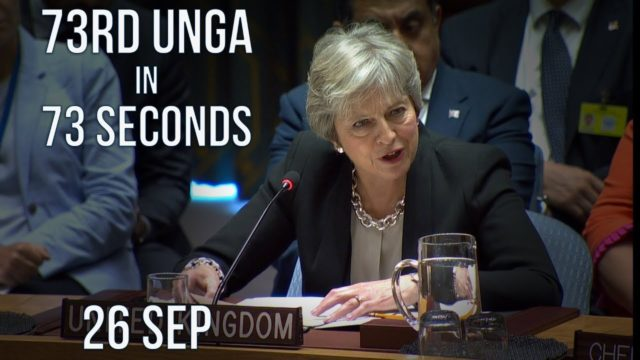 73rd UN General Assembly in 73 sec – 26 Sep
