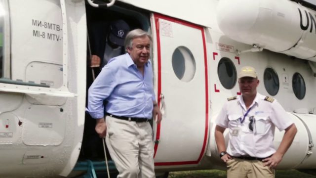 UN Chief urges world to show solidarity after visiting Imvepi refugee camp in Uganda