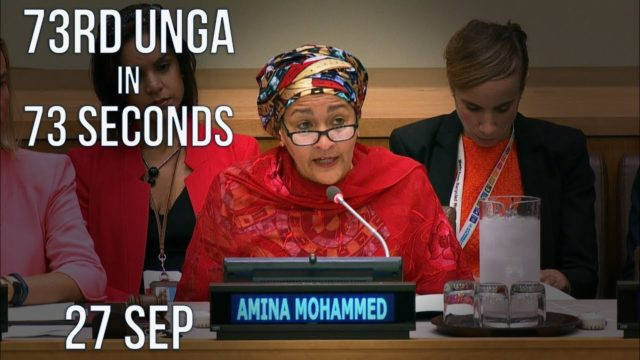 73rd UN General Assembly in 73 sec – Thu 27 Sep