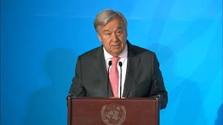 António Guterres (UN Secretary-General) at the Climate Action Summit 2019