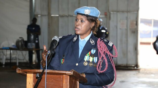 UN Female Police Officer of the Year, Major Seynabou Diouf of Senegal