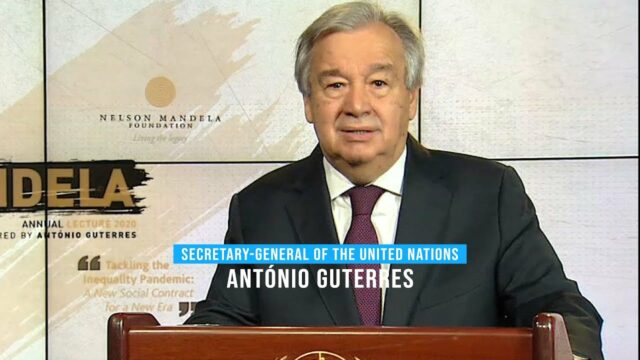On Mandela Day, UN Chief Urges New Social Contract for New Era